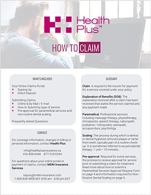 How to Claim Health Plus